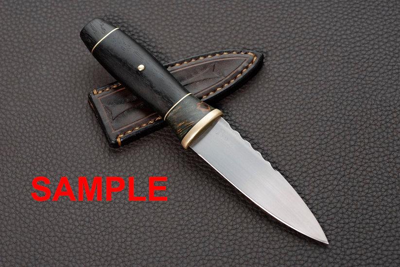 Custom Order - Sgian Dubh 'Coruisk' - Stabilized Maple Burl