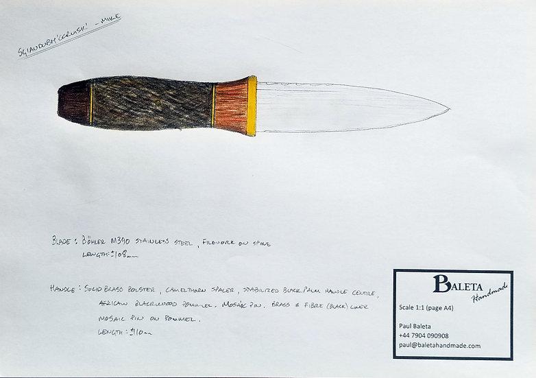 Custom Order - Sgian Dubh 'Coruisk' - Camelthorn, Black Palm and African Blkwood