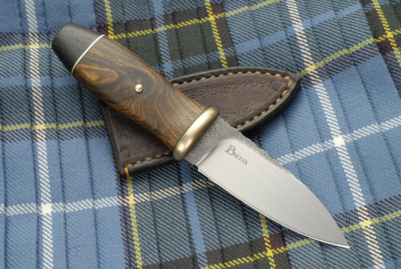 Sgian Dubh 'Scavaig' - Brass, Bocote and Bog Oak