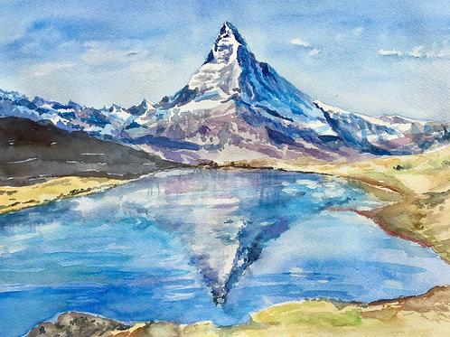 Stellisee mit Matterhorn (VS)