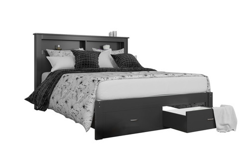 King Size Timber Bed Frame with Storage Drawers (Jasmine Collection ...