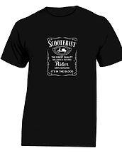 finest quality scooterist tshirt black.j