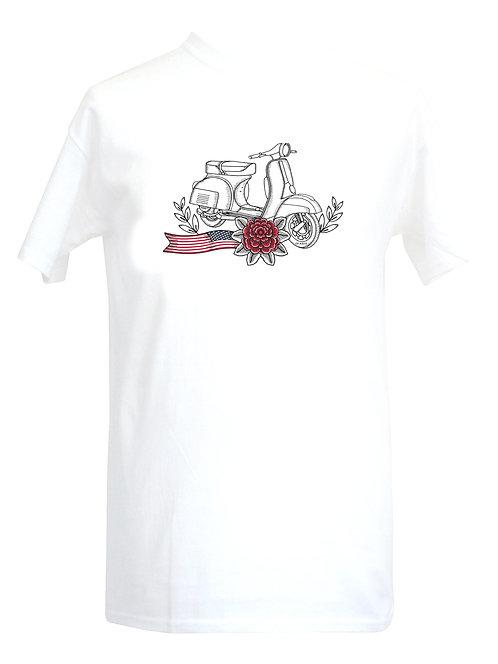 Vespa USA Red Flower Tattoo Tshirt