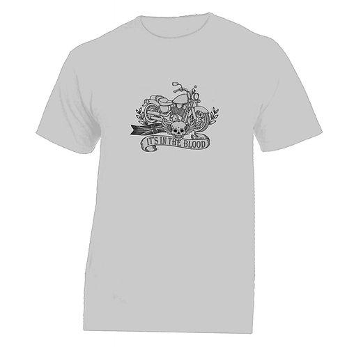 'It's In The Blood' Bike Tattoo Tshirt