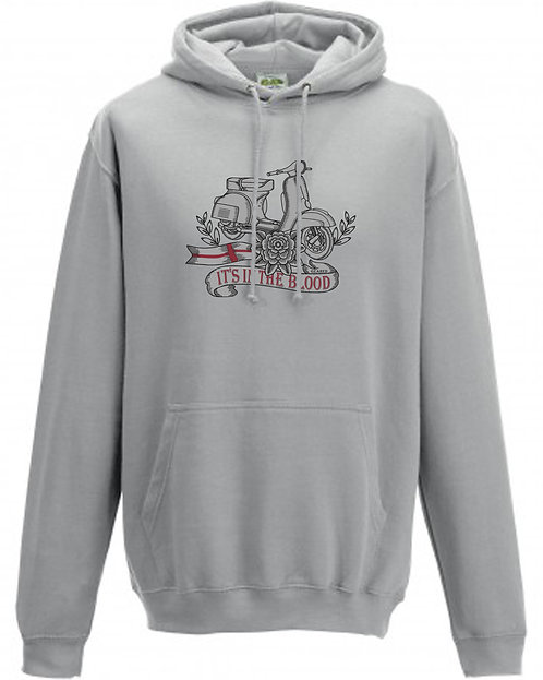 It's In The Blood/Vespa England White Flower Hoodie