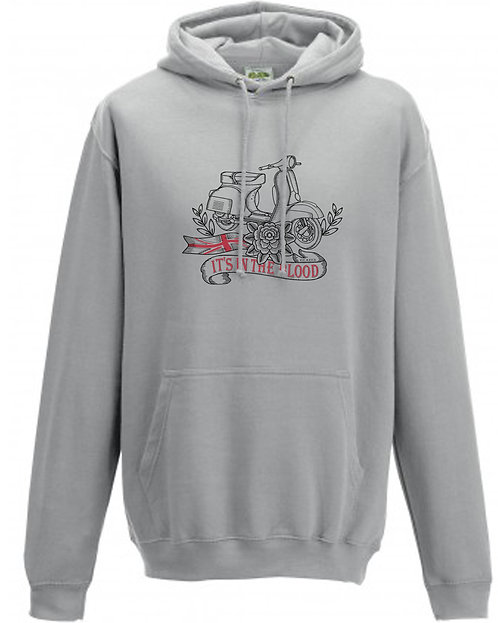 It's In The Blood/Vespa Great Britain White Flower Hoodie