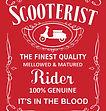 finest quality scooterist lambretta red