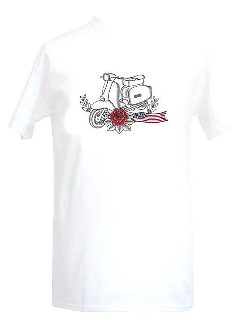 Lambretta USA Red Flower Tattoo Tshirt