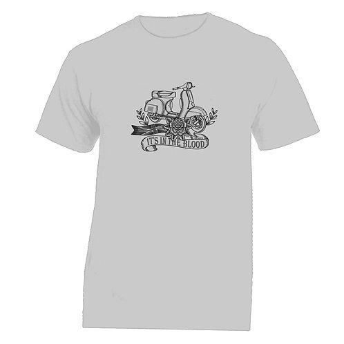 Vespa Great Britain 'It's In The Blood' Flower Tattoo Tshirt