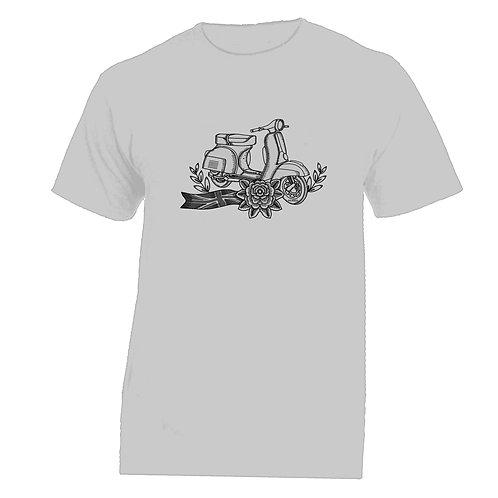 Vespa Great Britain Flower Tattoo Tshirt