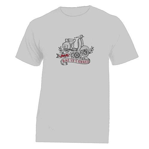 MAE YN Y GWAED/Vespa Tattoo Tshirt