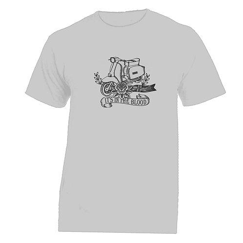 Lambretta Great Britain 'It's In The Blood' Flower Tattoo Tshirt