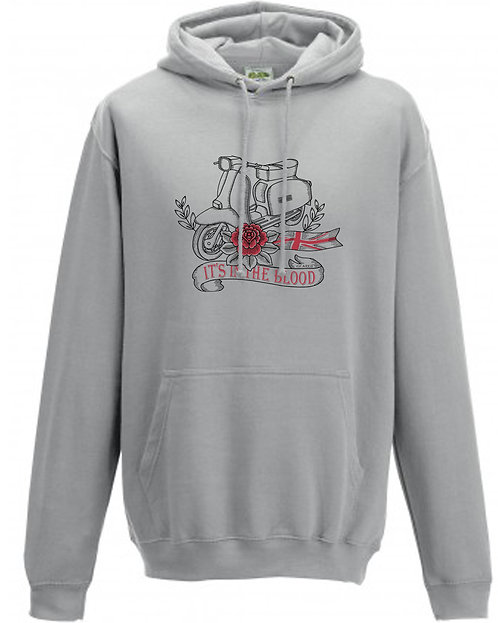 It's In The Blood/Lambretta Great Britain Red Flower Hoodie