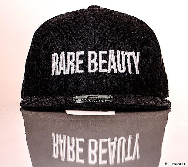 Black Lace 3D stitched RARE BEAUTY Hat