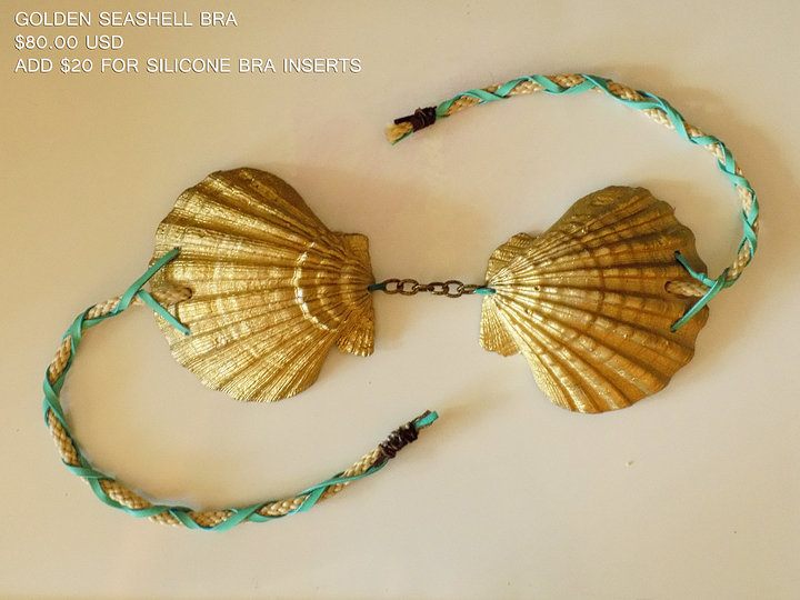 Golden Seashell Bra