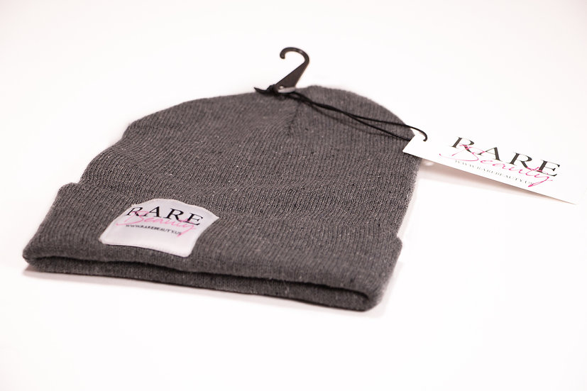 Grey RARE BEAUTY Beanie Snug Fit