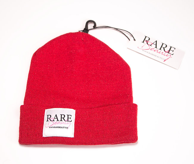 Red RARE BEAUTY Snug Fit Beanie
