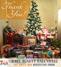 RARE BEAUTY TOY DRIVE 2014