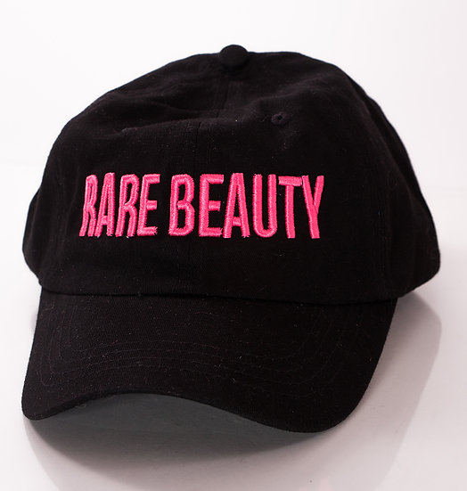 3D Pink RARE BEAUTY on Black Dad Hat