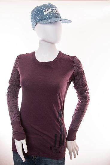 Purple Rare Beauty Longsleeve Side Model Silhouette