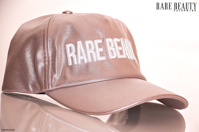 Champagne Pink 3D Heavy Stitched RARE BEAUTY Hat