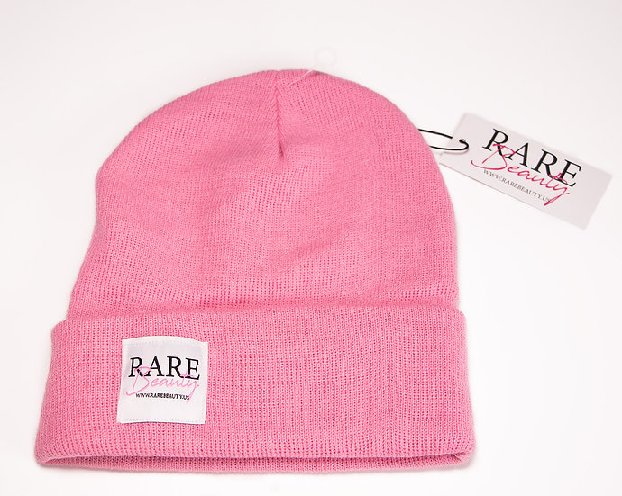 Soft Pink RARE BEAUTY Long Knit Beanie