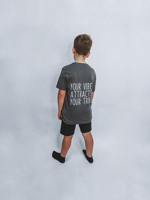 Grey Your Vibe Attracts Your Tribe T-Shirt