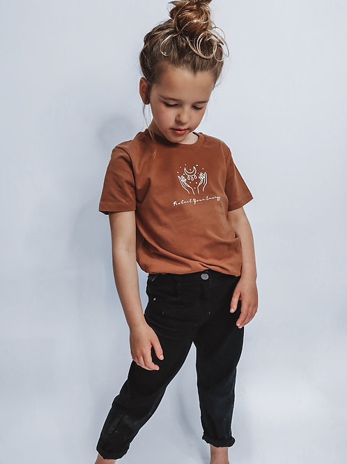 Kids Caramel Protect Your Energy T-Shirt