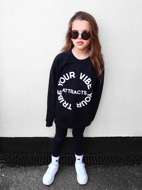 Kids Your Vibe Attracts Your Tribe jumper