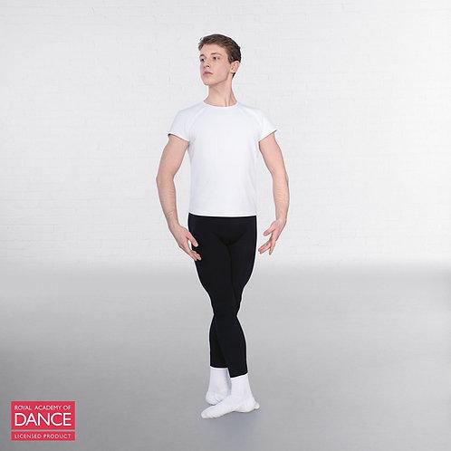 Boys' white round neck t-shirt