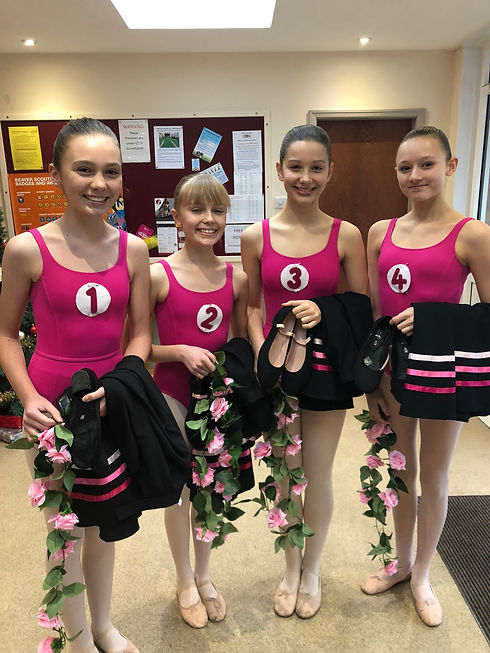 Ballet exam group image Rose, Daisy, Izz