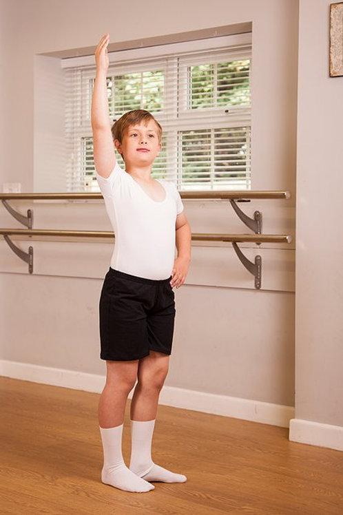 Boys' black loose fitting shorts