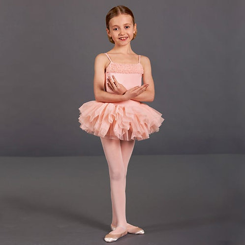 Pale pink tutu dress leotard