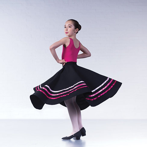 Character skirt with pink ribbon