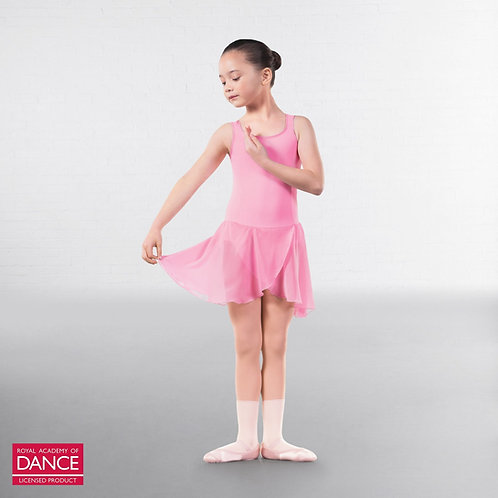 Pre primary and primary ballet pale pink skirted leotard