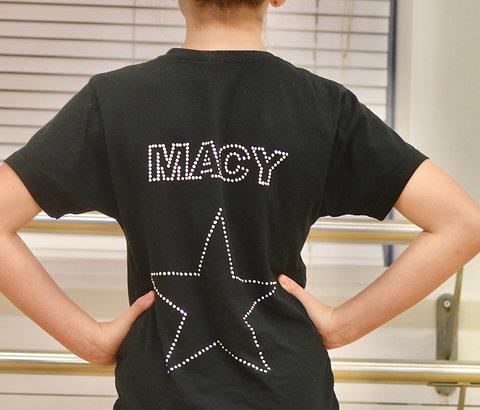 Personalised diamante encrusted black Academy t-shirt