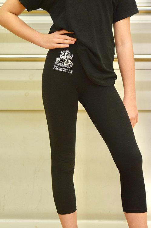 Children's calf length black Academy leggings