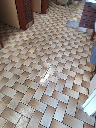 commerical toilet block floor -Dirty