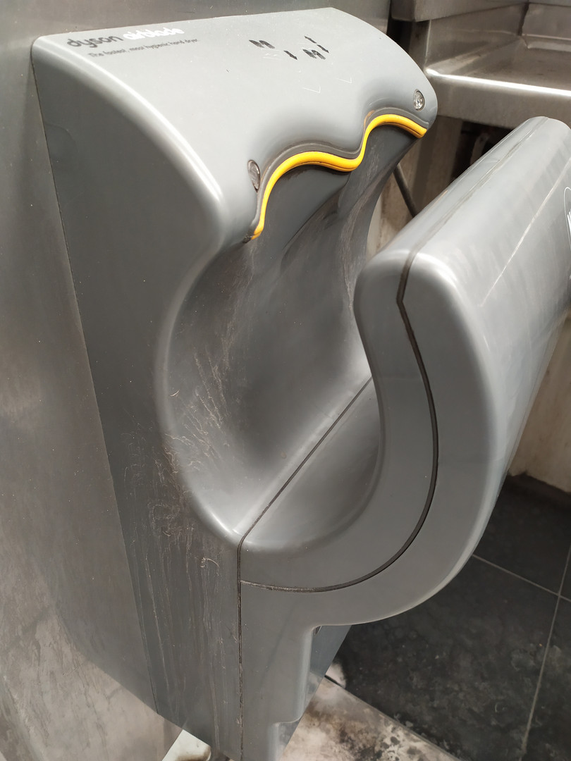 Touch free hand dryer- Dirty
