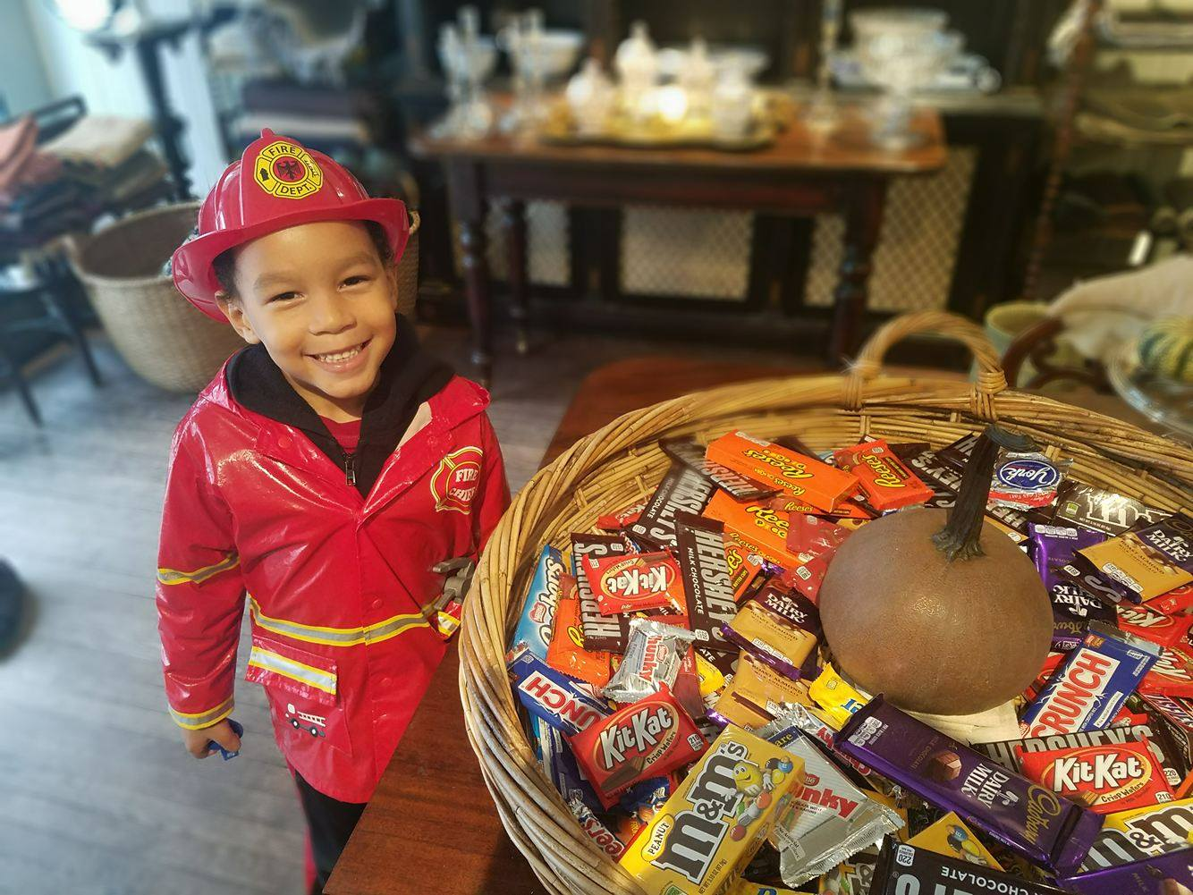 Trick or Treat Firefighter Costume