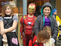 Creepy Girl, Iron Man, and Princess