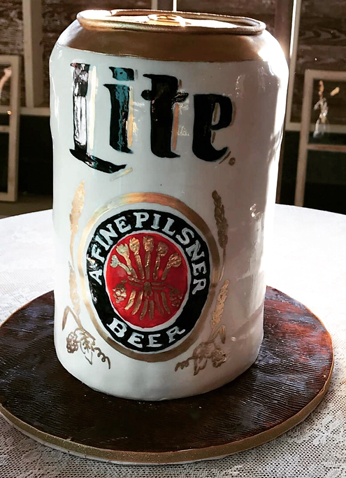 Beer Can Cake Specialty Cake Shelby Asheville North Carolina Love & Butter Baking Co.