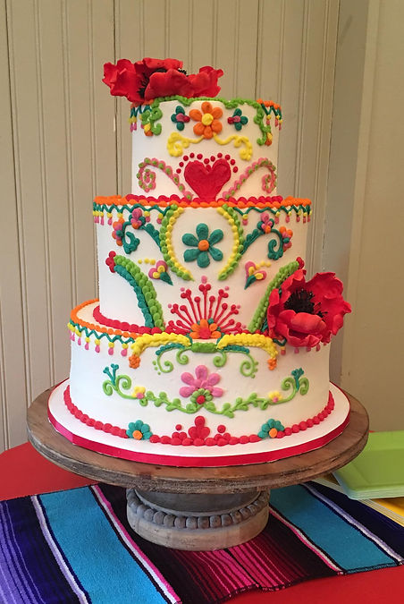 Fiesta Specialty Cake Shelby Asheville North Carolina Love & Butter Baking Co.