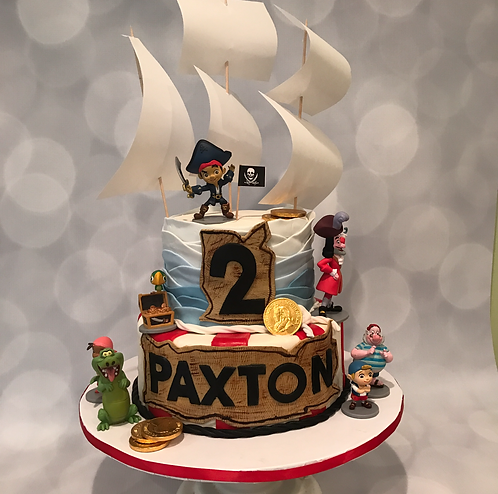 Pirate Ship Cake Specialty Cake Shelby Asheville North Carolina Love & Butter Baking Co.