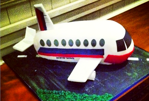 Airplane Specialty Cake Shelby Asheville North Carolina Love & Butter Baking Co.