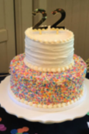 Sprinkle birthday cake Specialty Cake Shelby Asheville North Carolina Love & Butter Baking Co.
