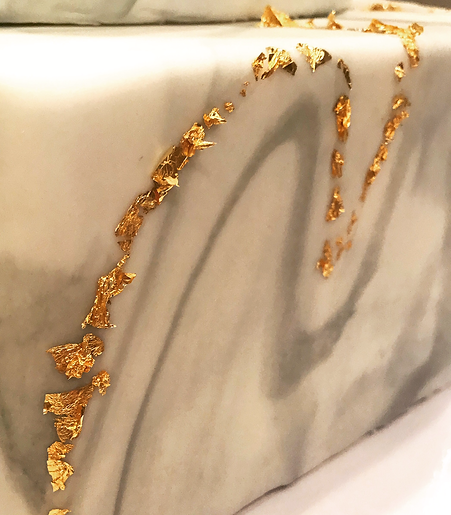 Marble Gold leaf Specialty Cake Shelby Asheville North Carolina Love & Butter Baking Co.