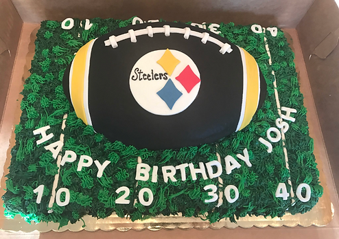 Game Day Football Specialty Cake Shelby Asheville North Carolina Love & Butter Baking Co.