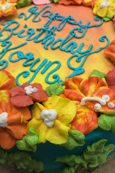 Floral Specialty Cake Shelby Asheville North Carolina Love & Butter Baking Co.