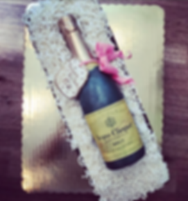 Champagne Specialty Cake Shelby Asheville North Carolina Love & Butter Baking Co.